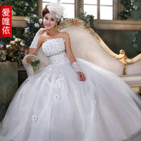 Love 2013 rhinestone flower bride wedding sweet princess wedding dress