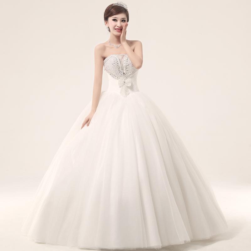 Luxury 2013 Princess Wedding Dress Tube Top Heart Cutout Tube Top Luxury Rhin