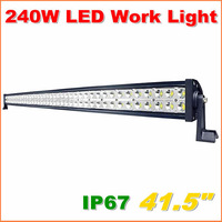 Free Shipping 240W LED Work Light  Bar 12V 24V IP67 Flood Or Spot beam For 4WD 4x4 Off road Light Bars TRUCK BOAT TRAIN BUS
