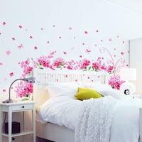 Effie tv backdrop sticker romantic bedside wall stickers rose