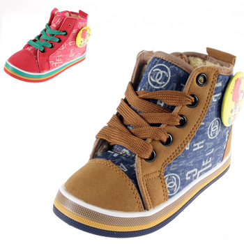 Baby snow boots shoes winter thermal warm cotton-padded shoes child shoes slip-resistant soft outsole snow boots
