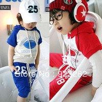 Free Shipping New arrival fashion cute children clothing ,short sleeve T-shirt +pants children/kids suit, kids clothes