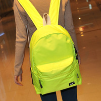 School bag 2013 women's handbag neon preppy style backpack middle school students school bag backpack