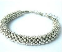 Pretty Jewelry chinese Tibet Silver Bracelet / Free Shiping