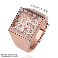 18K gold plated ring fashion ring Genuine Austrian crystals italina ring,Nickle free antiallergic factory prices rxu cuc GPR173