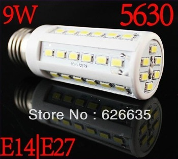 Promotions!Free 9W/15W E27 LED Corn Light Bulb 60 SMD 5630 bulb light retail sale