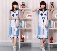 Kuroko no Basuke Midorima Shintaro Basketball Jersey cosplay Costume Uniform NO.7  FREE SHIPPING Anime