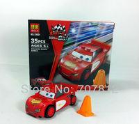 Free Shipping Christmas Gift  Educational Building Car The designer Enlighten Child Building Block Toys For Children Best Gift