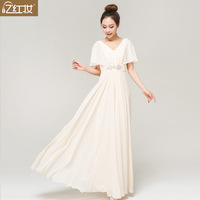 Bride dress 2013 new arrival wedding dress deep V-neck married fashion evening dress evening dress