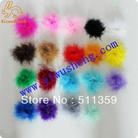 wholesale colorful mrabou puff(200pcs/lot)