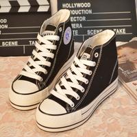 women canvas thick rubber bottom shoes women's classic type leisure walking sneakers ladies'  footwear