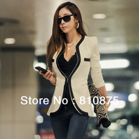 Aliexpress alibaba 2013 fashionable Blazer ,Long sleeve,zipper,New fashions,Gossip Girl Wears,full size,