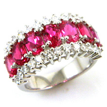Wholesale Summer Hot New Stylish Sexy Ladies Pigeon Blood Red Ruby Ring 925 Sterling Silver Fashion Free Shipping