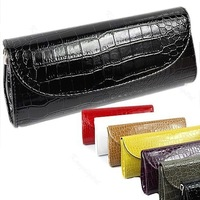 Free Shipping Fashion Handbag Patent Women Faux Leather Evening Party Bag Clutch Purse