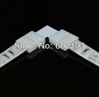 "8mm width 2PIN ""L"" type solderless connector for 3528 single color led strip light"