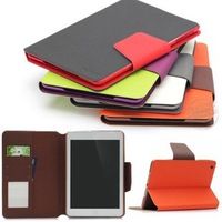 Free shipping For samsung   p5100 holsteins p5110 ultra-thin protective case wallet card color block protective case mount
