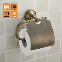 Fashion circle bathroom accessories copper antique toilet paper holder vintage toilet paper box antique brass toilet paper (KP)