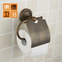 Fashion flower vine bathroom accessories copper antique toilet paper holderantique brass toilet paper (KP)