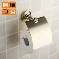 Copper gold toilet paper holder waterproof paper towel holder paper holder fashion antique bathroom accessories (KP)