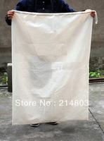 W50xH70cm wholesale large eco-friendly plain cotton drawstring  bags with custom logo free shipping
