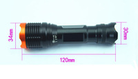 2pcs ultrafire kc01 CREE XM-L T6 1800 Lumens 7 mode Zoomable Led flashlight  torch