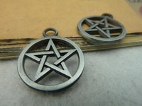 2013 Jewelry Free Shipping 20pcs/lot gun black pentagram 21*26mm  diy accessories vintage