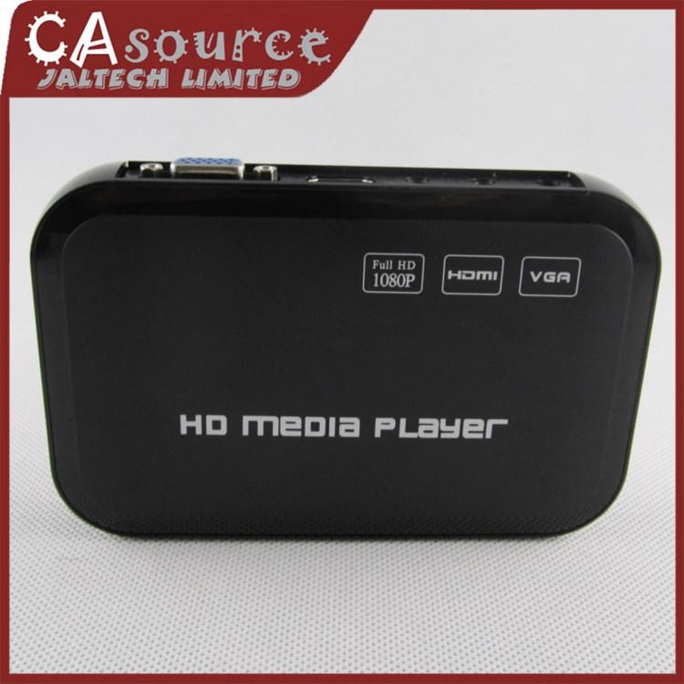 Full HD 1080P USB External Remote Control HDD Media Player with HDMI VGA SD Support MKV H.264 RMVB WMV DHL Free Shipping 10PCS(China (Mainland))