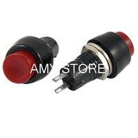 2 Pin SPST OFF-(ON) NO N/O Round Push Button Switch Self locking Red 10mm Mounting Hole DS-450