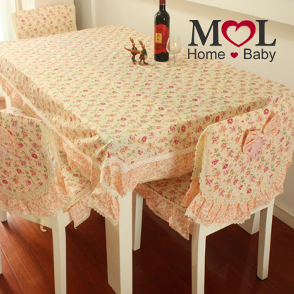 Mol rustic table cloth dining table cloth tablecloth table cloth cushion tables and chairs set cushion flower