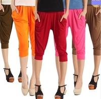 Free shipping 2013 Fashion Lady's Colorful Drape Harem Pants Short Hip-Hop Stretch Women's Skinny Trousers 12 Colors