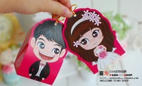 Free shipping 2013 Wholesale  chinese-style Paper Wedding Candy Bift Box gift paper box cartoon girl boy