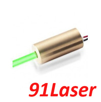 532nm 5mW green laser module (Dot) DC3-5V  12x50mm, lifetime>5000hours from 91Laser