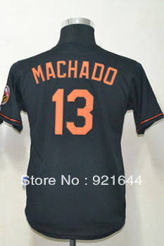 Free Shipping -#13 Manny Machado Kids Youth Authentic Alternate Black Cool Base Baseball Jersey