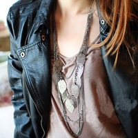 Min.order is $10 (mix order) N001 Beauty Unique Multilayer Tmperament leaf Tassel necklace Wholesale !Free shipping!