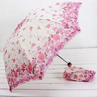 Super anti-uv double layer fabric umbrella laciness umbrellas