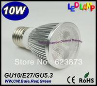 2 pcs Mini Sales New Concept Epistar GU10/E27/GU5.3 10W 85V-265V WW/CW/Bule/Red/Green Led Light Lamp Led Spotlight