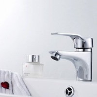 Copper hot and cold basin faucet single hole wash basin faucet