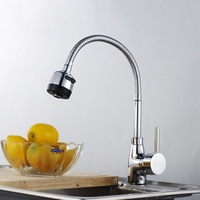 Copper faucet sink rotary swivel hot and cold