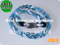2013  fashion germanium energy braided custom health balance titanium necklace