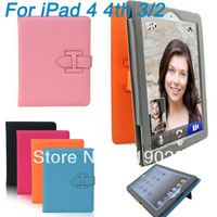 Folio Folding PU Leather Stand Holder Bumper Cover Colors for New iPad 2/3/4