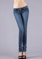 elastic, tight, little feet pants, pencil pants for women jeans 2014