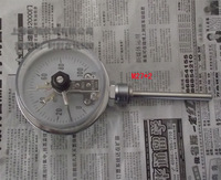 "4""100MM WSS-411 bottom electronic contact  bimetal thermometers  for oil water etc thermometer"