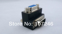 20pcs/lot Right Angle VGA A Male to Female Connector 90 Degree VGA M/F Extension Adapter Converter Wholesale Free Shipping
