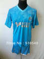 Free Shipping!!13-14 Marseille Away Blue Soccer Jersey,Marseille Top Quality football Shirt+Short Embroidery Logo Marseille