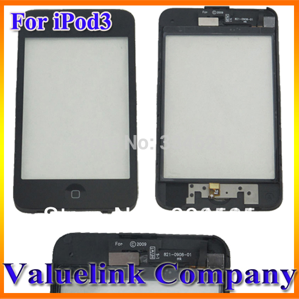 5PCS/Lot USA For iPod Touch 3rd Gen Screen Glass Digitizer + Bezel Frame Replacement Assembly US Stock Fast Shipping(China (Mainland))