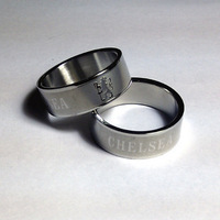 England Chelsea fc stainless steel ring men  /  soccer fans fashion jewelry
