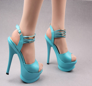 2013 fashion open toe high-heeled sandals platform vintage ultra high heels thin heels women's shoes(China (Mainland))