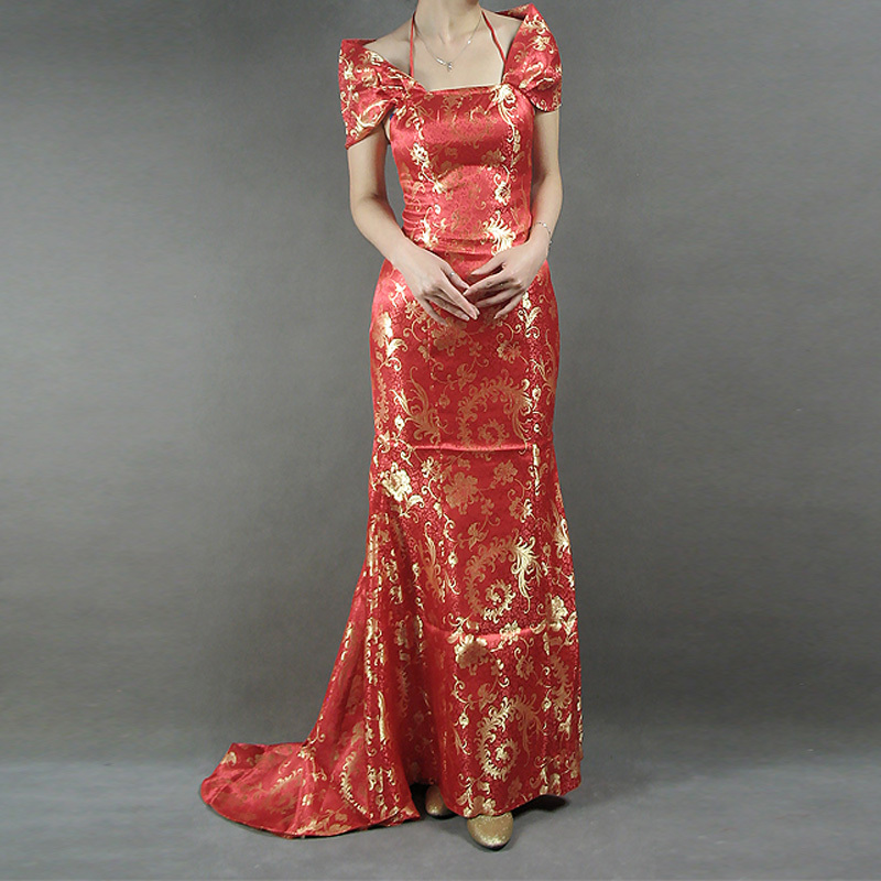 2013 beautiful full body cheongsam b79 bag drop waist wedding dress beach wedding dresses(China (Mainland))