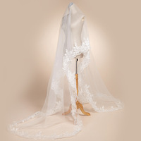 Wedding accessories 3 meters veil lace decoration bridal veil train 3 meters