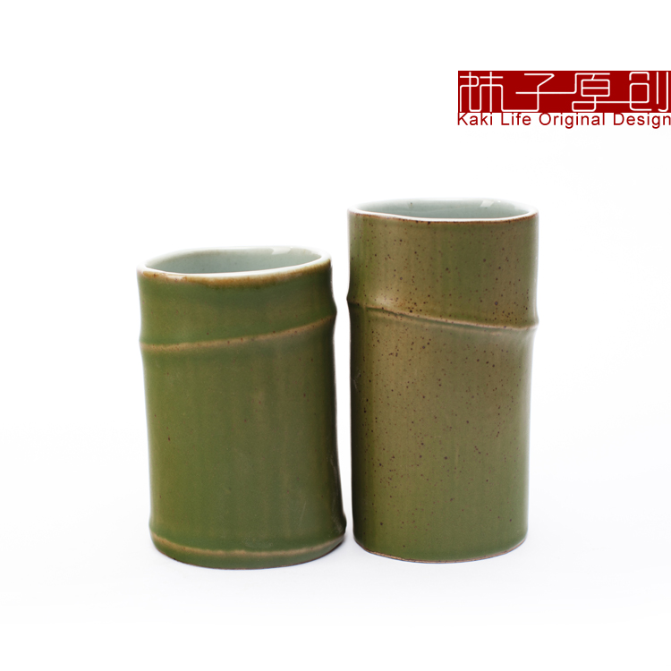 Limited free shipping offer: Ceramic bamboo cup(China (Mainland))